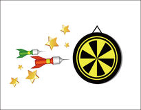 darts ilustração stock