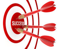 Darts and abstract success Royalty Free Stock Images