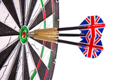 Darts in aim Stock Photography
