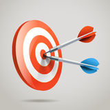 Darts and aim. vector Stock Images