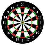 darts Alvo para dardos Objeto isolado Fundo branco Vetor Imagem de Stock Royalty Free