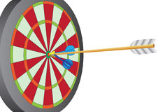 Darts+arrow Photo libre de droits