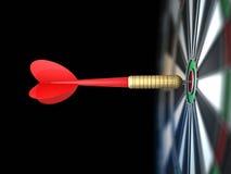 Darts arrow in bull's-eye. Red darts arrow in bull's-eye Stock Image