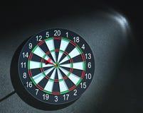 Darts arrow in bull's-eye. Red darts arrow in bull's-eye Royalty Free Stock Images