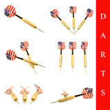 Darts arrow set Stock Photos