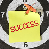 Darts arrow with success Stock Image