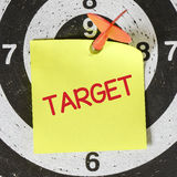 Darts arrow with target Royalty Free Stock Images