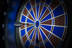 Darts arrows in the center. Darts arrows in the target center Royalty Free Stock Photography