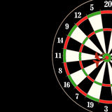 Darts and arrows 3d illustration. On black Royalty Free Stock Photography