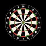 Darts and arrows 3d illustration. On black Stock Photos