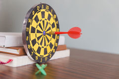 darts arrows hit the target center Stock Photography
