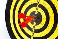 Darts arrows in the target Royalty Free Stock Photo
