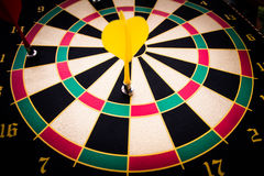 Darts arrows. In the target Royalty Free Stock Photo