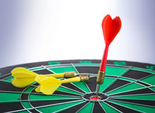 Darts arrows in the target Royalty Free Stock Image