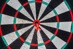 Darts. Arrows in the target center Royalty Free Stock Image