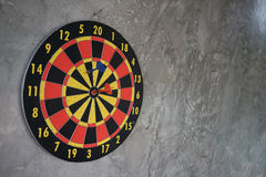 Darts arrows in the target center Royalty Free Stock Image