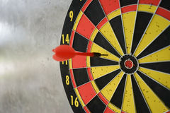 Darts arrows in the target center Royalty Free Stock Photo