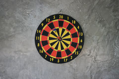 Darts arrows in the target center Royalty Free Stock Photos