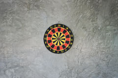Darts arrows in the target center Stock Image