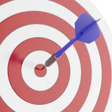 Darts arrows in the target Stock Images