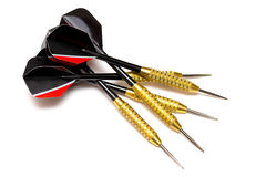 Darts arrows  on white background Royalty Free Stock Photos