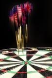 Darts On A Black Studio Background Stock Photography