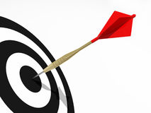 Darts on the black target. Concept for business success and marketing Royalty Free Stock Image