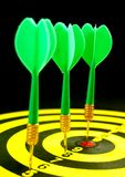 Darts at board Royalty Free Stock Photo