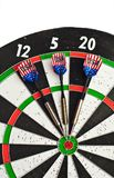 Darts on board Royalty Free Stock Photos
