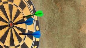 Darts board aim. sport concept Stock Photos