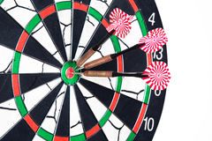 Darts board with arrows Royalty Free Stock Image