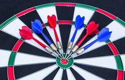 Darts board close up Royalty Free Stock Images