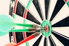 Darts board close up Stock Photo