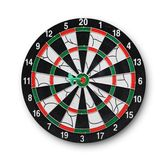 Darts board with a dart in the center Stock Photography