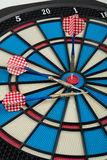 Darts board with a dart Stock Photos