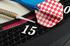 Darts board with a dart Stock Photography