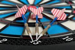 Darts board with a dart Royalty Free Stock Image