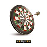 Darts board isolated stock illustration