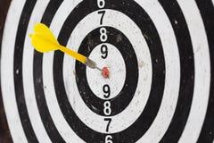 Darts board, succes concept shot stock image