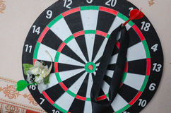 Darts Board with Twenty Black and White Sector Royalty Free Stock Photos