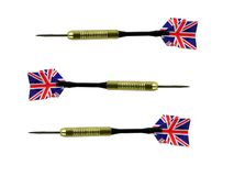 Darts with British flag Royalty Free Stock Images