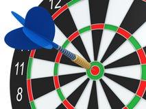 Darts in bulls-eye Royalty Free Stock Image