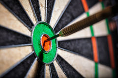 The darts in bull`s eye Royalty Free Stock Photos