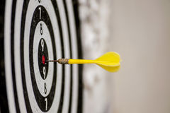 Darts in bull's-eye royalty free stock photography