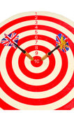 Darts in centre Royalty Free Stock Images