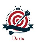Darts championship emblem Royalty Free Stock Photography