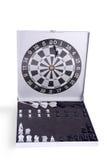 Darts and chess set. Table darts and chess set Royalty Free Stock Photo