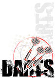 Darts circle poster background red Royalty Free Stock Image
