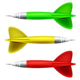 Darts color collection isolated Royalty Free Stock Photos