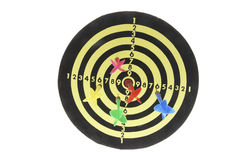 Darts on Dart Board Royalty Free Stock Photos